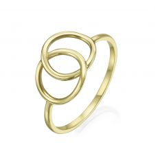 14K Yellow Gold Ring - Large Integrated Circles