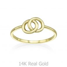 14K Yellow Gold Ring - Integrated Circles
