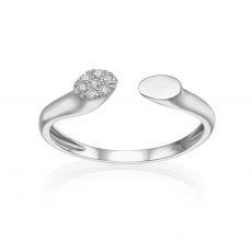 14K White Gold Open Ring  - Celine