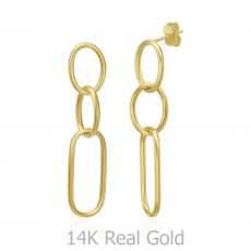 14K Yellow Gold Women's Earrings - Memphis