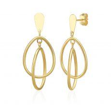14K Yellow Gold Women's Earrings - Troy