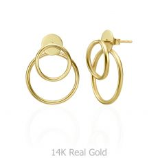 14K Yellow Gold Women's Earrings - Petra