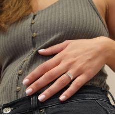 Ring in 14K White Gold - Signet