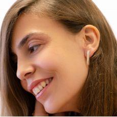 14K Yellow Gold Women's Earrings - long Thea