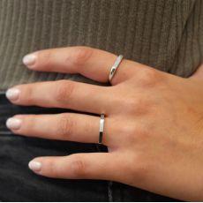 Ring in 14K White Gold - Geometric