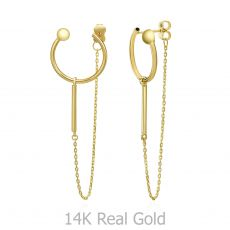 14K Yellow Gold Women's Earrings - Viola