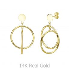 14K Yellow Gold Women's Earrings - Sparta