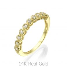 14K Yellow Gold  Diamond Ring- Izabel