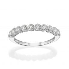14K  White Gold Diamond Ring  - Izabel