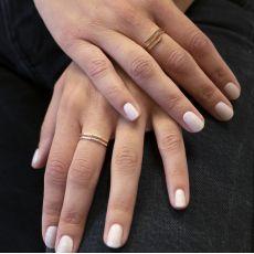 14K White & Yellow Gold Ring - Milano