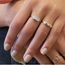 14K White Gold Rings - Merlin