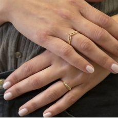 14K Yellow Gold Rings - Nicole