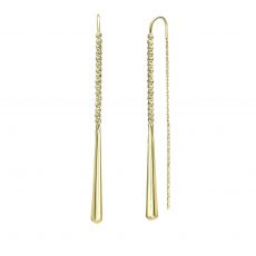 14K Yellow Gold Dangle Earrings - Jolene
