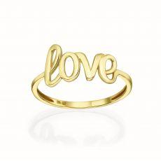 14K Yellow Gold Rings -Love