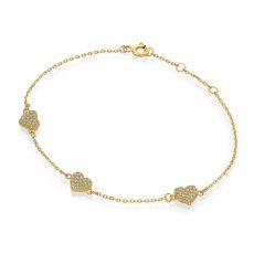 14K Yellow  Gold Women's Bracelets - Penelope Hearts