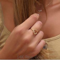 Ring in 14K Yellow Gold - Circle