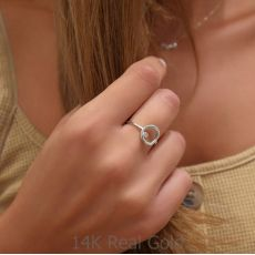 Ring in 14K White Gold - Circle