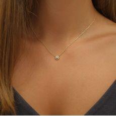 14K Yellow Gold Diamond Women's Pendant - Maribel