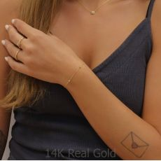 14K Yellow Gold Women's Bracelets - Jasmine