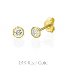 14K  Yellow Gold Diamond Earrings - Chloe M