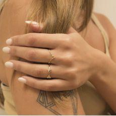 14K Yellow Gold Rings - Diamond Engraving