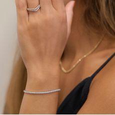 14K White  Gold Women's Bracelets - Denver