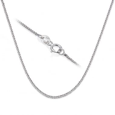 Spiga Necklace -  Elegant Braid, 0.7 MM
