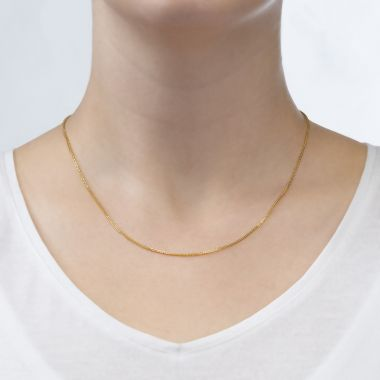 Spiga Necklace -  Elegant Braid, 0.8 MM