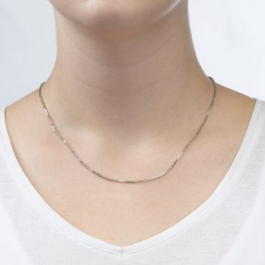 Spiga Necklace -  Elegant Braid, 1 MM