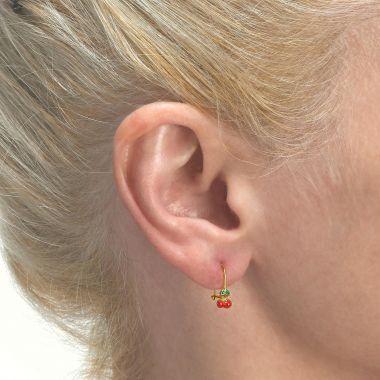 Earrings - Cherry Drop