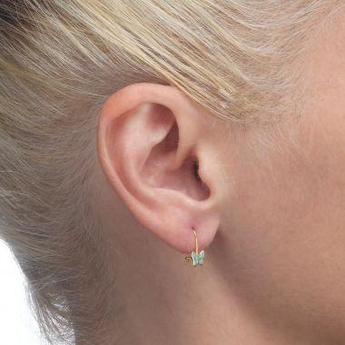 Earrings - Flutterby Butterfly - Light Blue