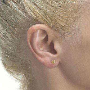 Gold Stud Earrings -  Flower of Barbara