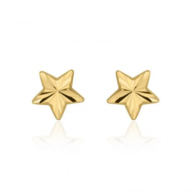 Gold Stud Earrings -  North Star