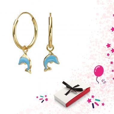 Earrings - Dolphin Leap