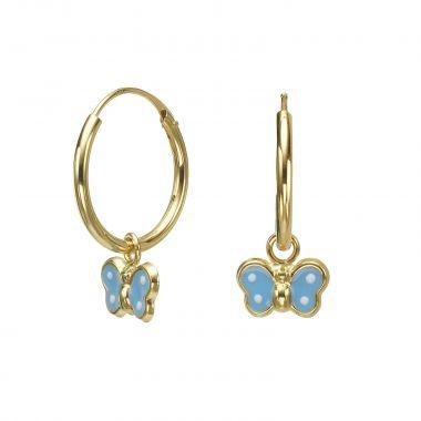 Earrings - Annabelle Butterfly - Light Blue