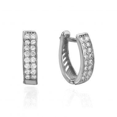 Huggie White Gold Earrings - Hollywood