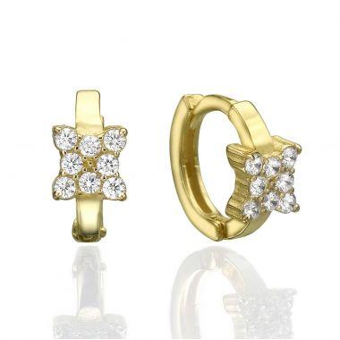 Huggie Gold Earrings -Butterfly Mia Small
