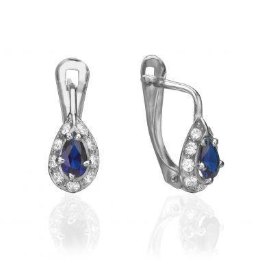 Drop White Gold Earrings - Yahli