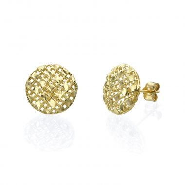 Gold Stud Earrings - Circle of Caroline