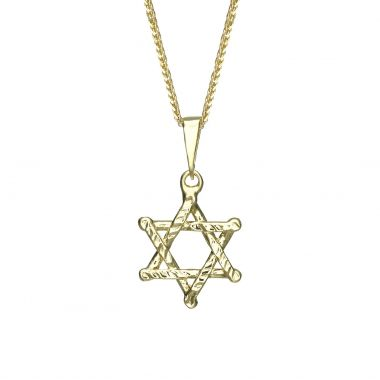 Gold Pendant - Star of David (Zion)