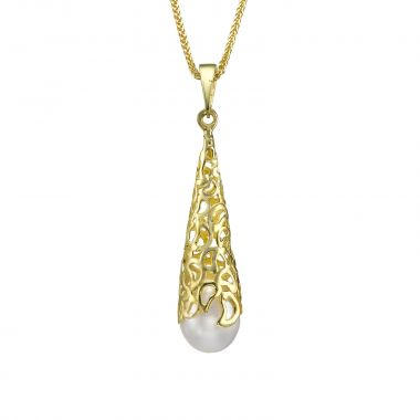 Gold Pendant - Golden Pearl