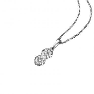 White Gold Pendant - Infinite Sparkle