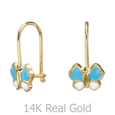 Earrings - Gila Flower - Light Blue