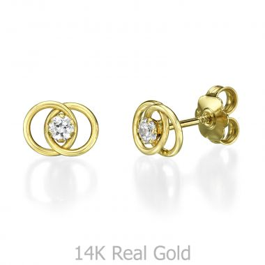 Stud Earring in Yellow Gold - United
