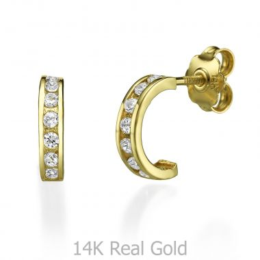 Stud Earring in Yellow Gold - Auckland