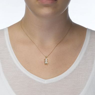 Pendant in Yellow Gold - Go Girl