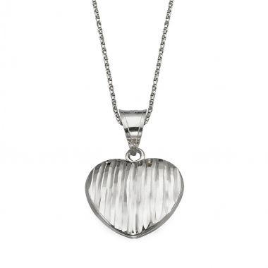 Pendant in White Gold - Winning Heart