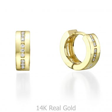 Yellow Gold Hoop Earrings - Kansas