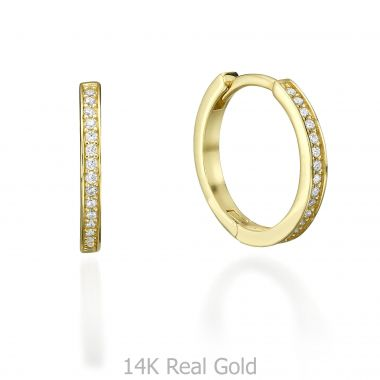 Yellow Gold Hoop Earrings - Ivanka