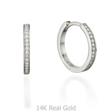 White Gold Hoop Earrings - Ivanka